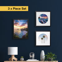 "3 x California Iconic Elements Set (12x16"", 12x12"", 12x12"")"