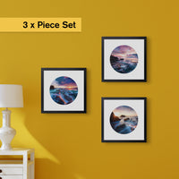 "3 x Southern California Beach Sunset Prints (12x12"")"