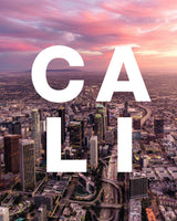 Los Angeles at Sunset with CALI Modern Type