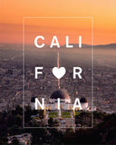 Bordered California Love with Los Angeles Observatory