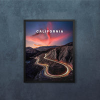 "2 x Southern California Light Trail Road Trips Set (12x16"")"
