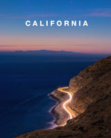 Pacific Coast Highway Light Trails with California Type