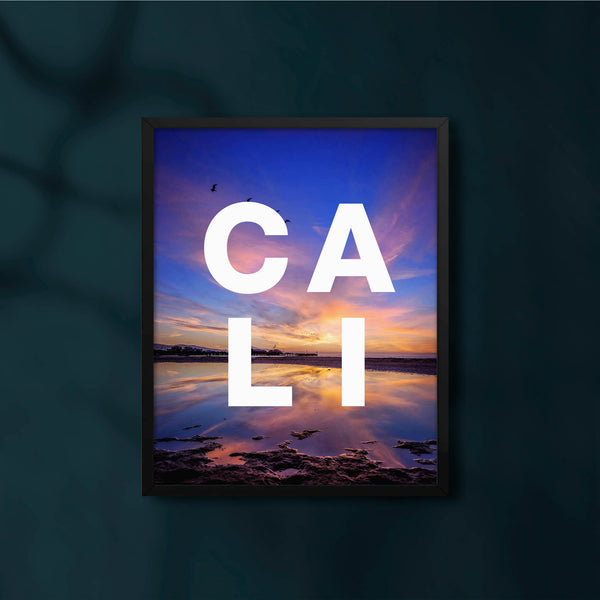 Cali Sunset Blues with CALI Modern Type