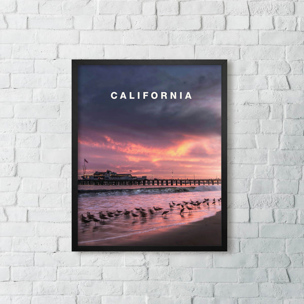California Pier Sunset with California Type