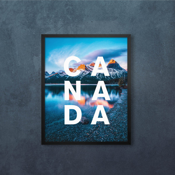 CANADA Mountain View with Iconic Type