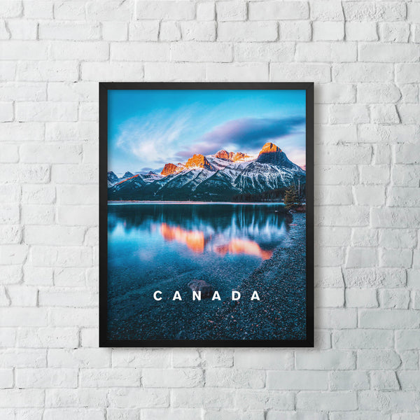 Banff, Canada in Perfect Light with CANADA Type