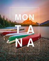 Bordered Montana Canoes at Glacier National Park