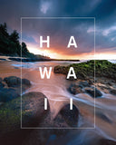 Hawaii Hidden Sunset Beaches with Bordered Type