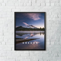 The calm of Morning With Oregon Type