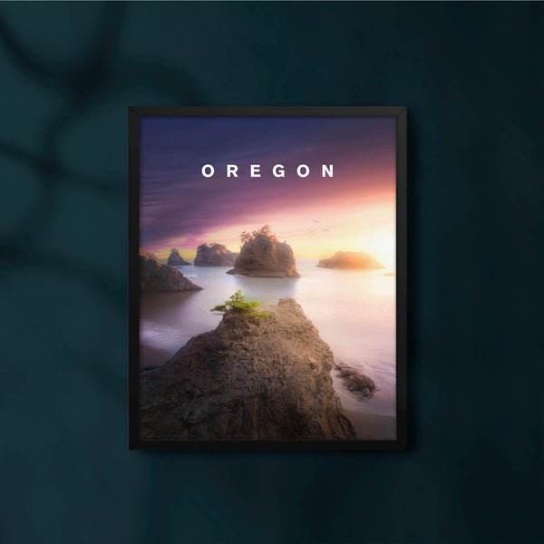 Southern Oregon Coast Glow with Oregon Type