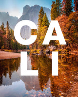 Yosemite in Fall with CALI Modern Type