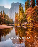 Yosemite View during Fall with California Type