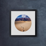 Iconic Circular California Dunes Footprints
