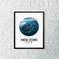 New York City From Above with Circular Vibes