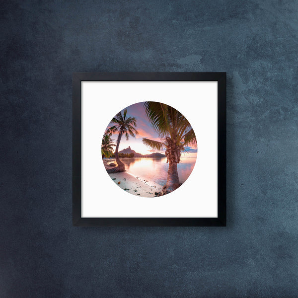 Iconic Circular Bora Bora Palm Sunset