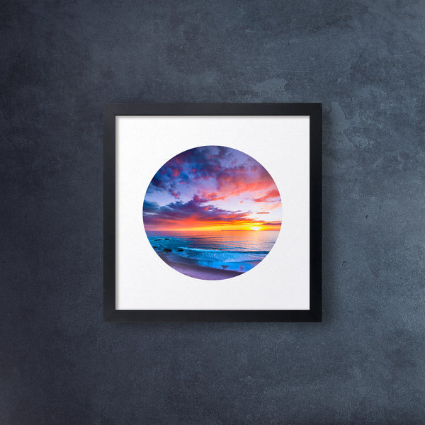 Iconic Circular California Beach View