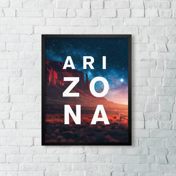 ARIZONA Monument Valley Nightsky with Modern Type