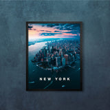 New York City from Above with Modern Type