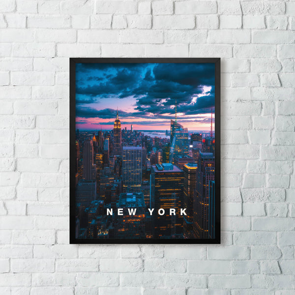 New York City Skyline with Modern Type