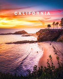 Landscape Photo Print with California Type