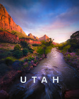 Iconic Modern Landscape with UTAH Type