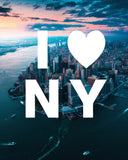 I LOVE NY From Above with Modern Type