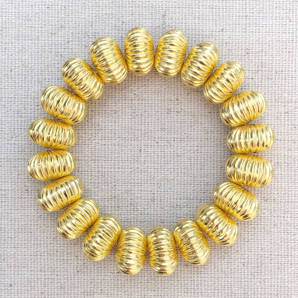 14mm corrugated bead bracelet