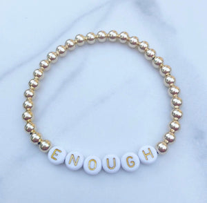 adult personalized letter bracelet /14k gold-filled beads