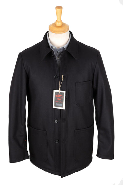 Vetra - Jacket 4 - Navy - Marine Melton- Wool