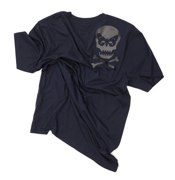 Regent Skull Organic Cotton T-Shirt - Navy