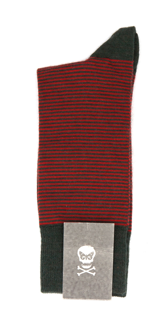 Regent Socks - Green and Red Stripe