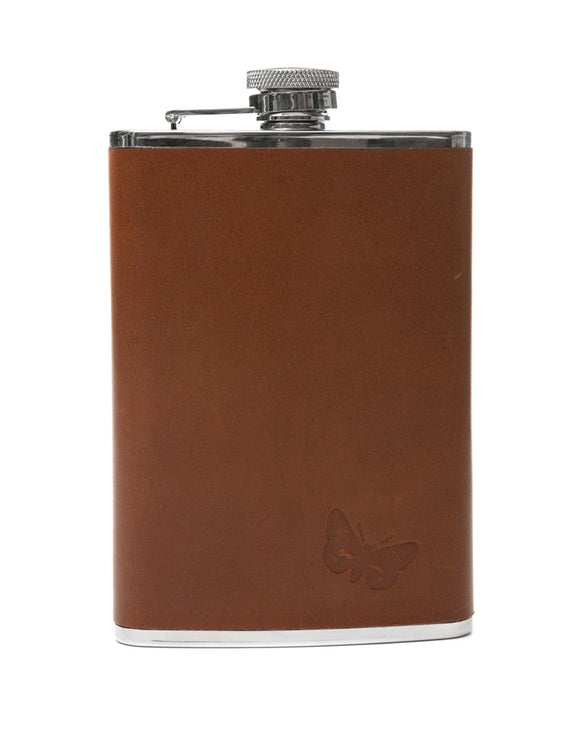 Regent Brown Leather Hipflask