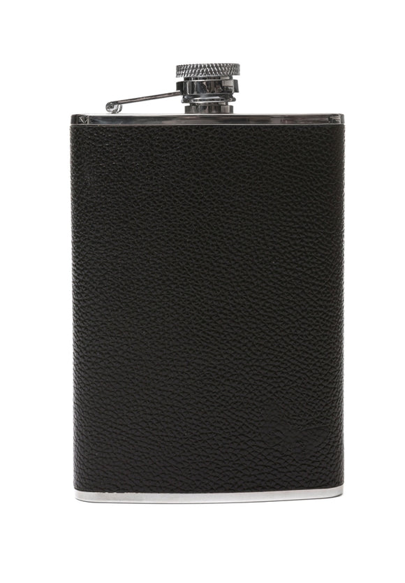 Regent Black Leather Hipflask