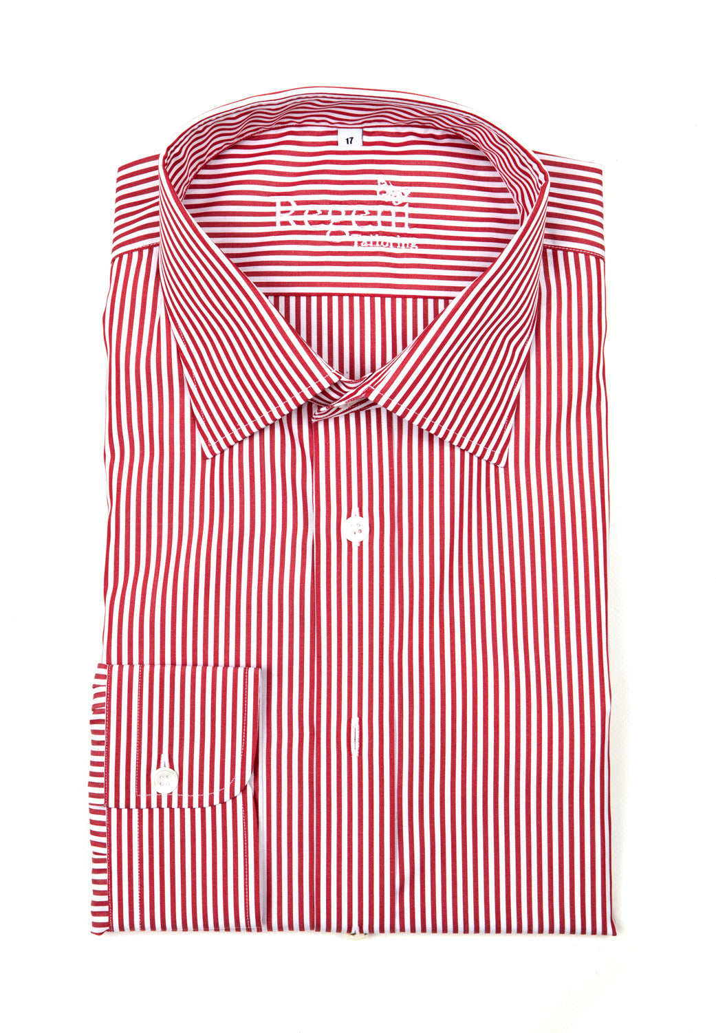 Regent Slim Cut Shirt - Burgundy Bengal Stripe