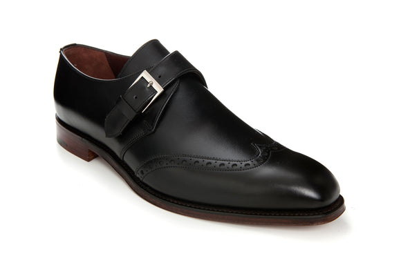 Regent 'The Monk' Black Leather Monk Strap shoes