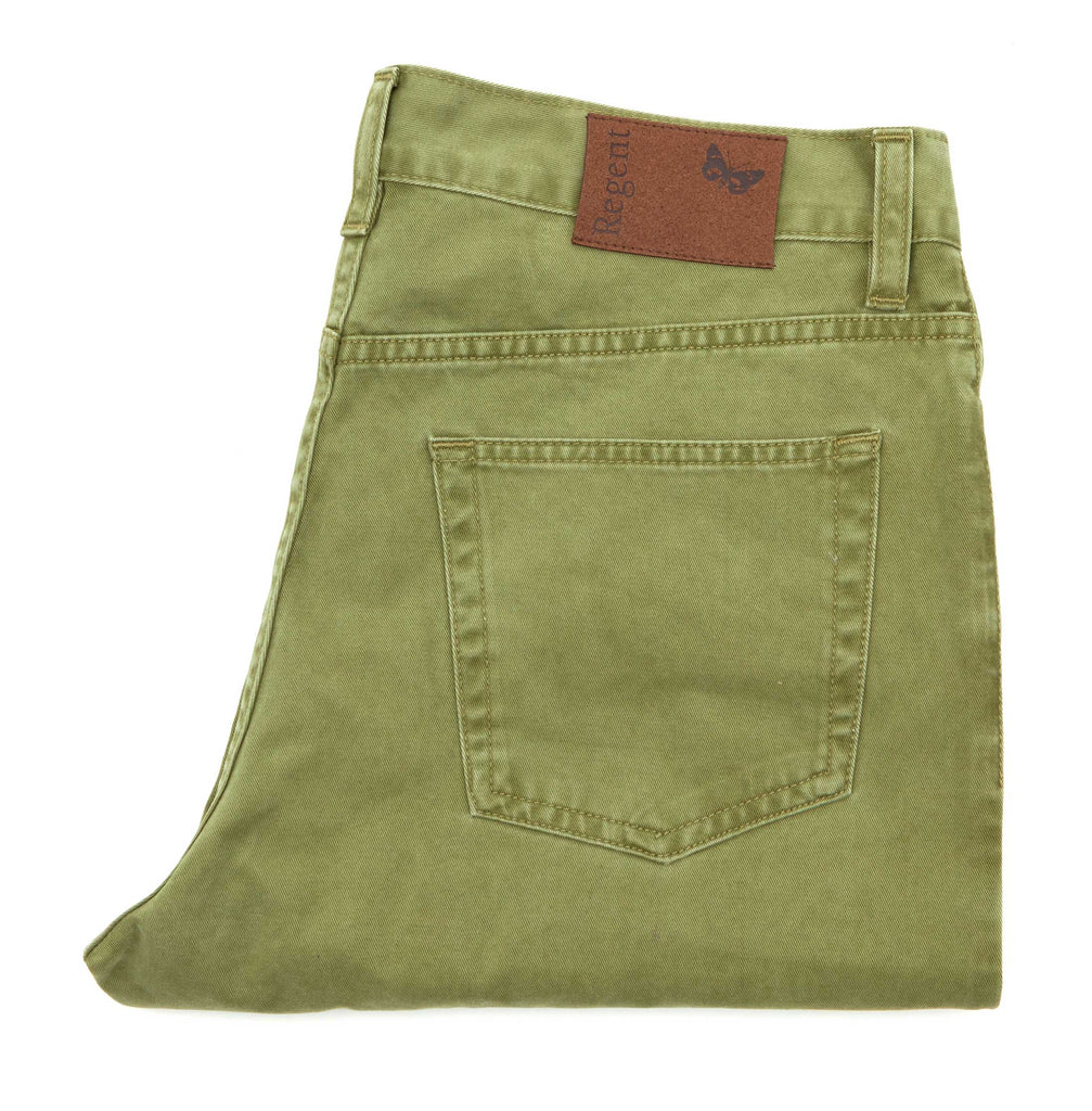 Regent - Chino/Jeans – Apple Pie Green - Cotton - Carrera - Regent Tailoring