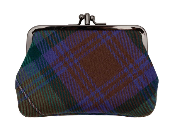 Lochcarron Isle of Sky Tartan Purse- Purple - Regent Tailoring