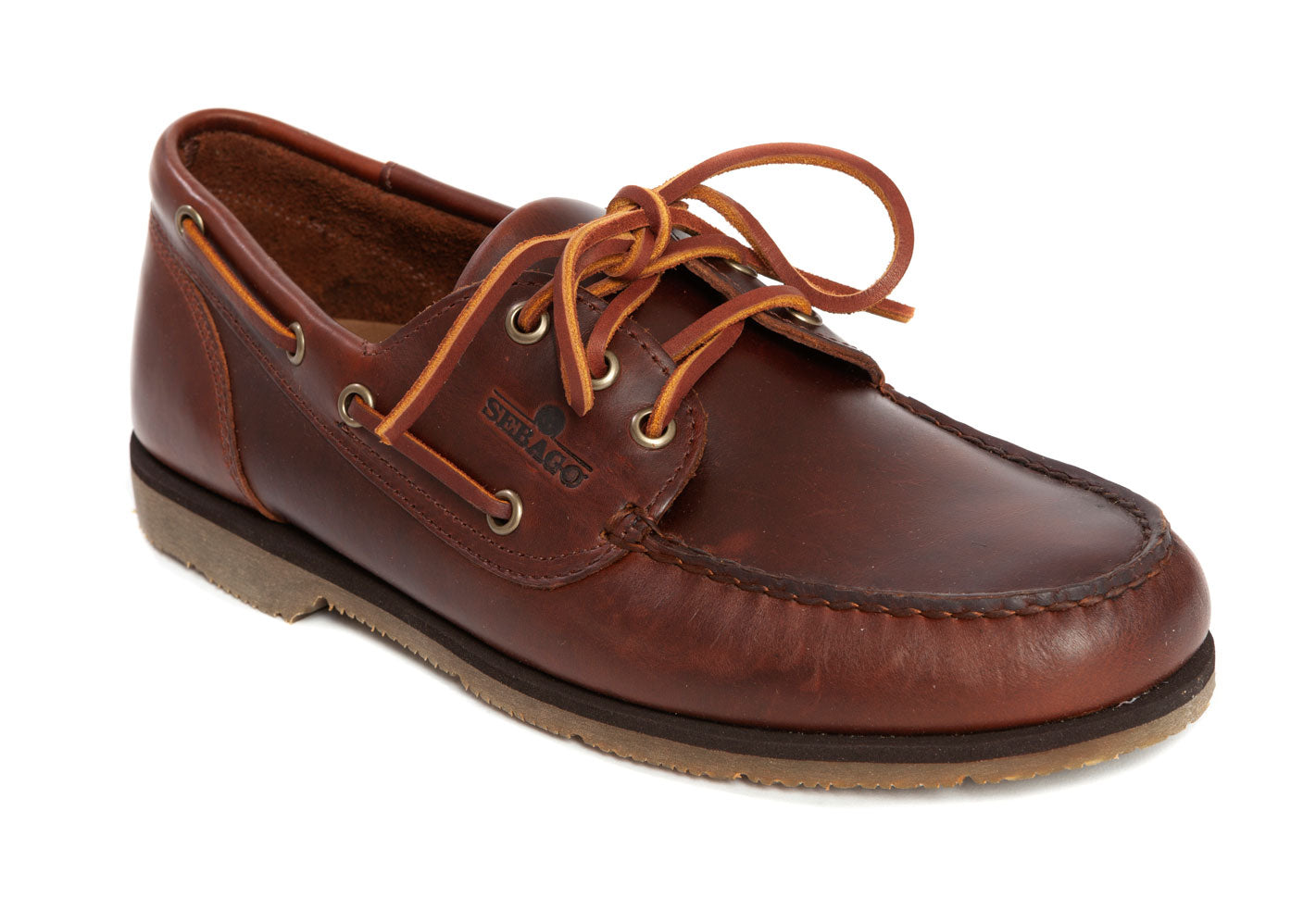 Sebago - Foresider Waxed Leather Boat Shoe - Brown Gum - Regent Tailoring