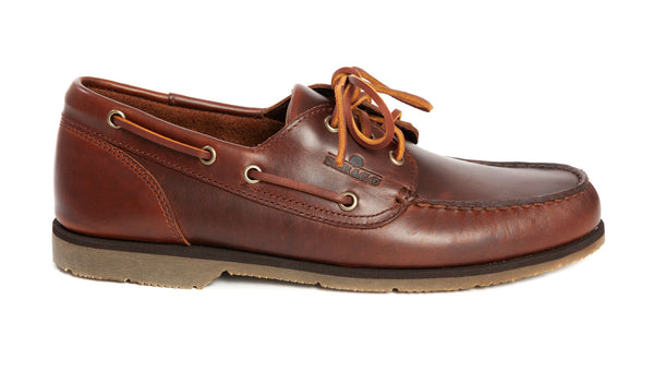 Sebago - Foresider Waxed Leather Boat Shoe - Brown Gum