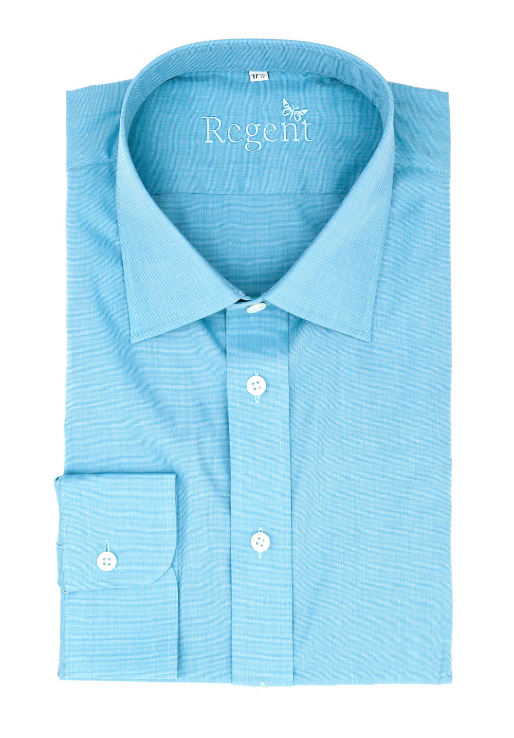 Regent - Shirt - Eggshell Blue - Luxury Cotton Twill - Regent Tailoring