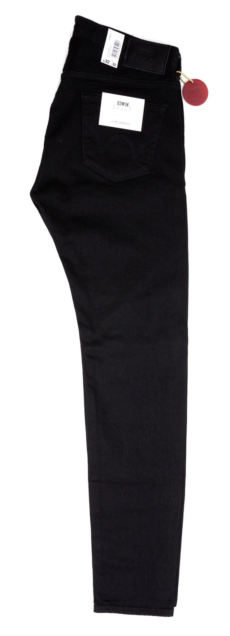 Edwin - Slim Tapered Jeans - (ED32M-101) - Solid Black Denim - Regent Tailoring