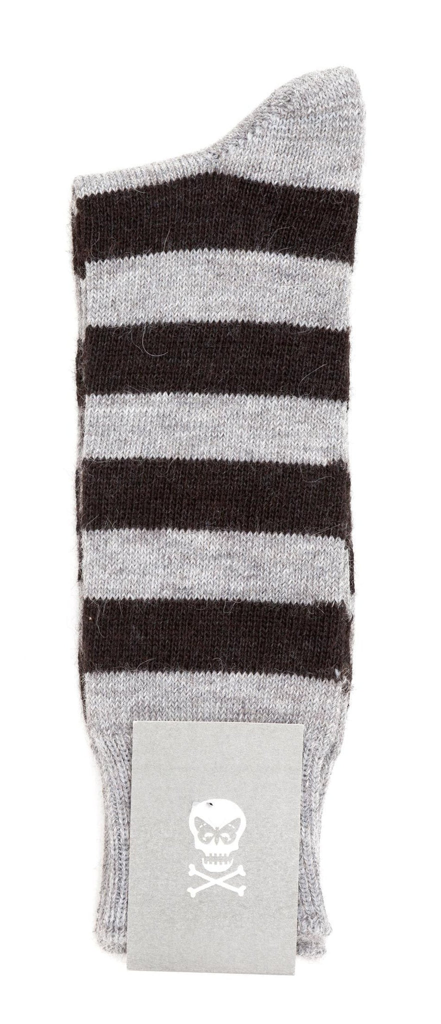 Regent Alpaca Socks - Grey / Black