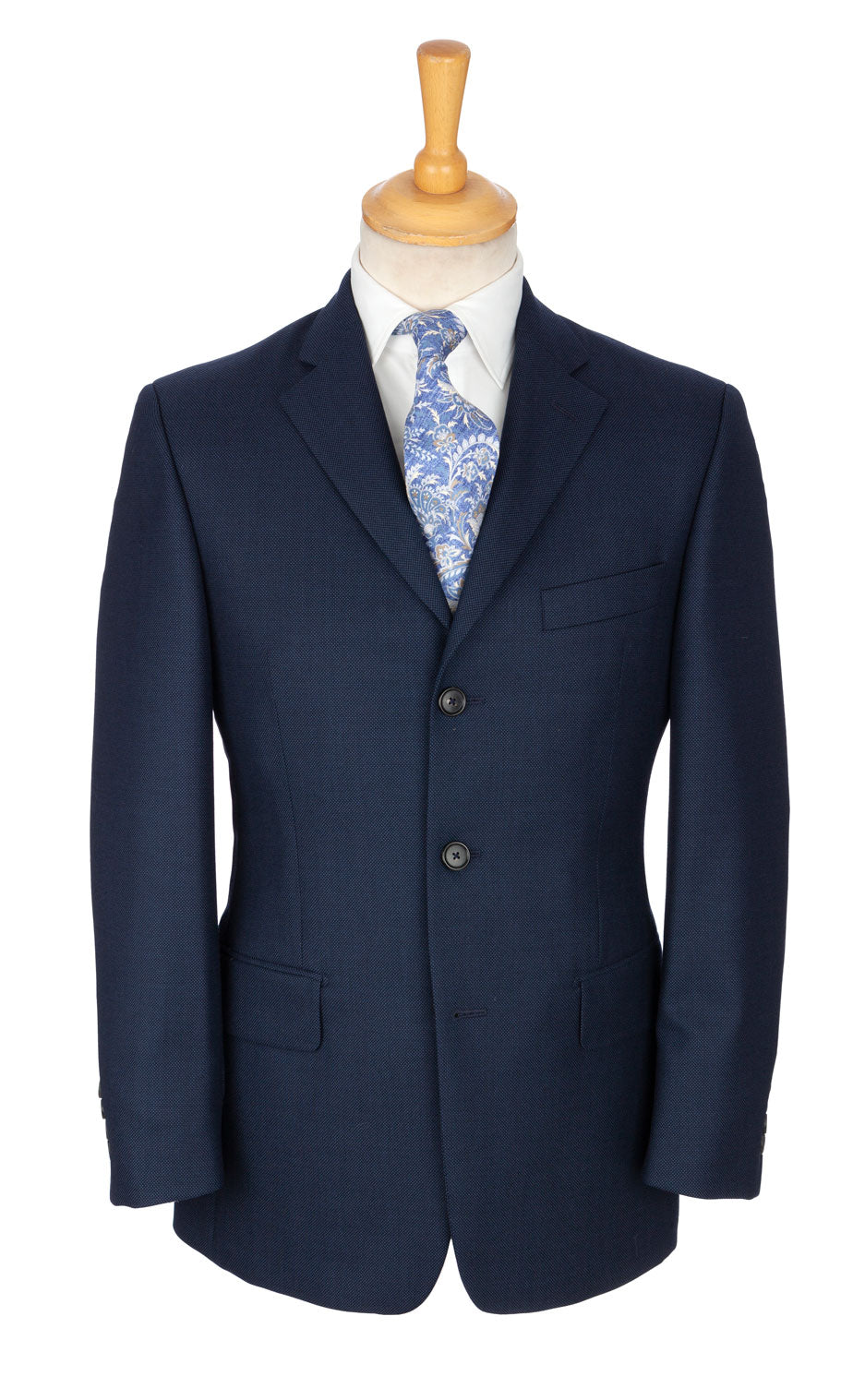 Luxury blue Scottish mastercrafted cloth suit designed exclusively by Regent. The Regent Matt sports an incredible, discrete cloth that has a special movement to it, almost oil-like.