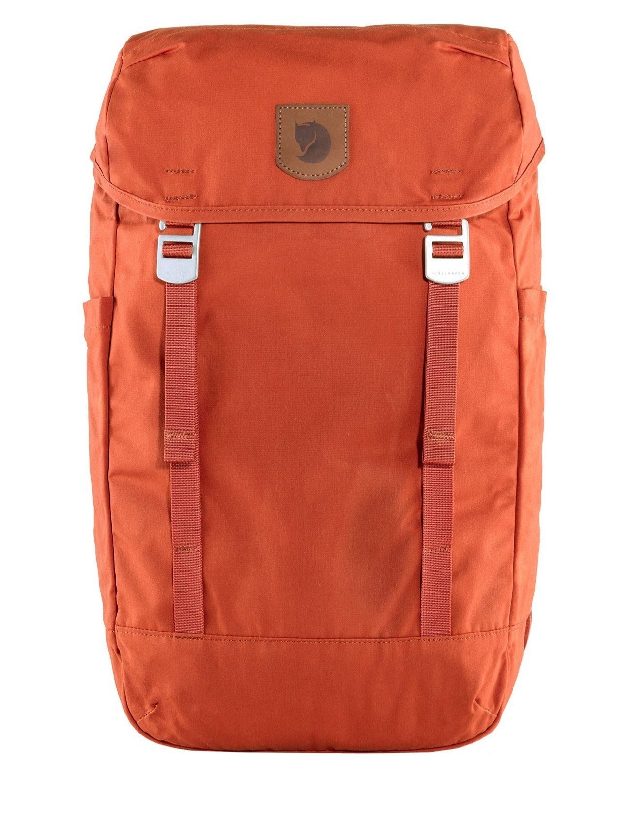 Supreme all-rounder and everyday backpack from masters Fjällräven, the Greenland Top is a top-loaded backpack with inside laptop compartment, plenty of storage and extra compartment space in easily accessible pockets and comfortable straps. Comes in a light red.