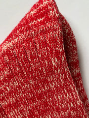 Regent Padded Socks - Cotton - Marled Red