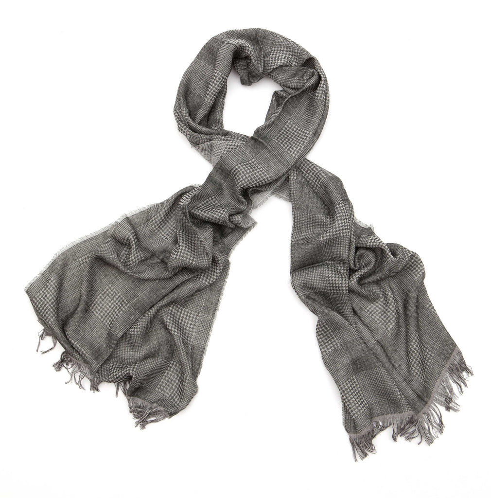 Regent - Scarf - Prince Of Wales - Cotton - Gunmetal - Regent Tailoring