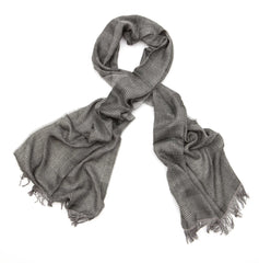 Regent - Scarf - Prince Of Wales - Cotton - Gunmetal