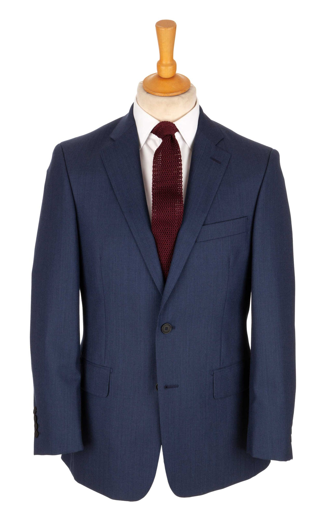 Regent Crow Two-Button Suit – Navy Wool - Regent Tailoring