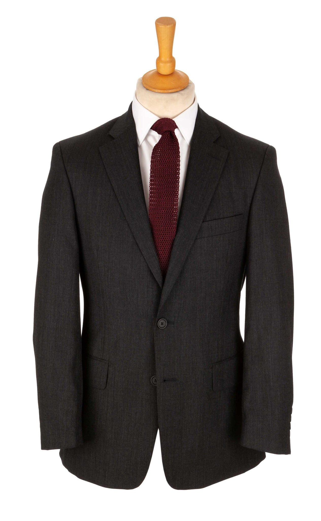 Regent - Ben Two-Button Suit - Charcoal Grey Wool - Regent Tailoring