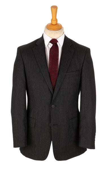 Regent - 'Ben' - Two-Button Suit - Charcoal Grey Wool